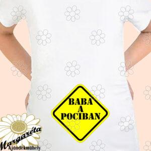 Kismama póló tábla