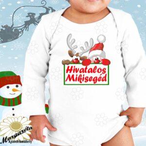 Baby body Karácsony mikisegéd
