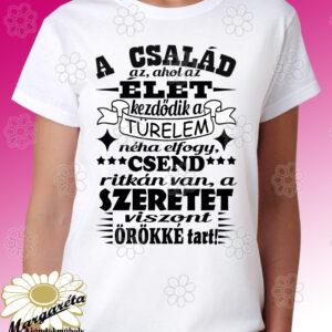 Anyának póló Család