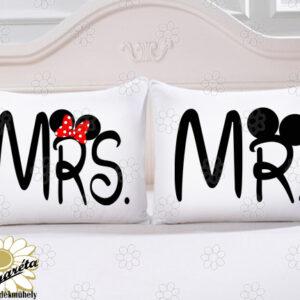 Páros párna Mr és Mrs