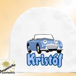 Sapka névvel autó kék