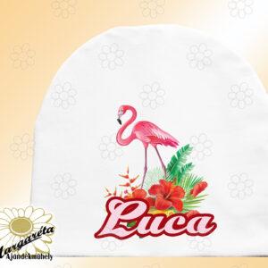 Sapka névvel flamingó piros