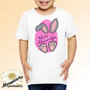 Húsvéti póló névvel füles lány
