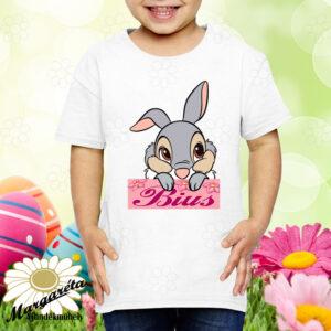 Húsvéti póló névvel nyuszifej fiú, lány