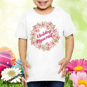 Húsvéti póló boldog nyuszit fiú lány