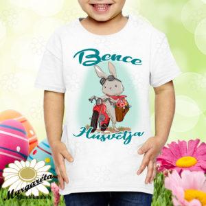 Húsvéti póló névvel nyuszimotorral
