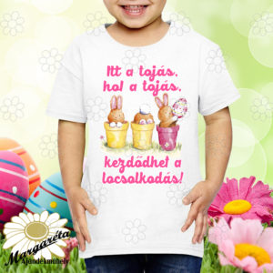 Húsvéti póló itt a tojás fiú,lány