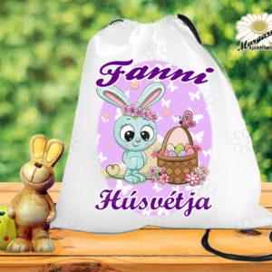 Húsvéti tornazsák névvel kosárka