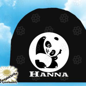 Sapka névvel egyszín panda