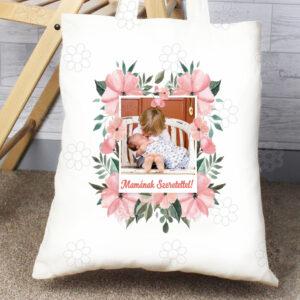 Anyáknapi szatyor virágkeret fotó