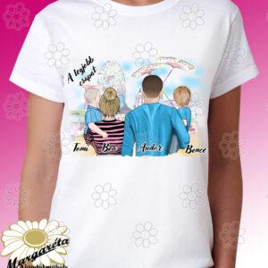 Családos póló rajzos két fiú