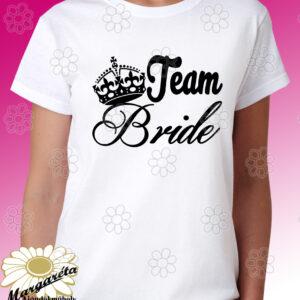 Lánybúcsú póló Team Bride