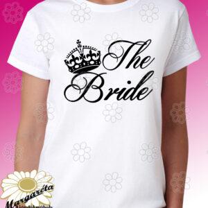 Lánybúcsú póló The Bride