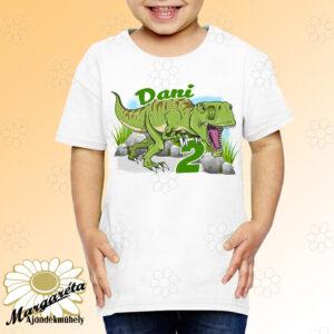 Szülinapos gyerekpóló Dínó T-rex
