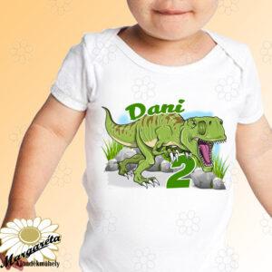 Szülinapos body Dínó T-rex
