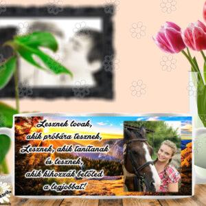 Fényképes bögre lovas  lesznek lovak