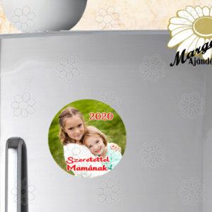 Hűtőmágnes fényképes fémlap 6,5 cm