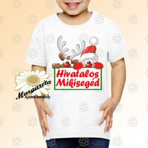 Karácsonyi gyerekpóló Mikisegéd