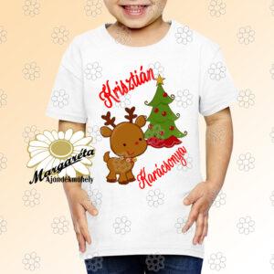 Karácsonyi gyerekpóló pici szarvas
