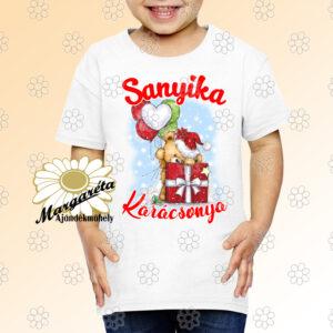 Karácsonyi gyerekpóló Maci lufikkal