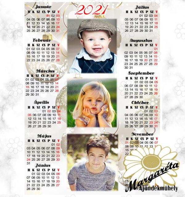 Egylapos fényképes naptár