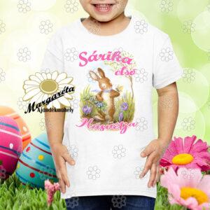 Húsvéti póló Nyuszikosárral fiú,lány