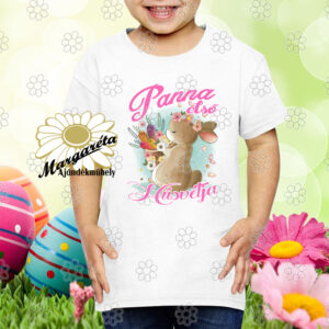 Húsvéti póló Nyuszi répákkal