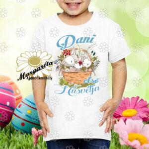 Húsvéti póló Nyuszik kosárban