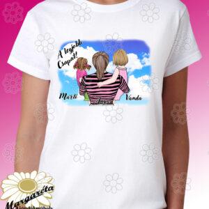 Anya fogja rajzos póló  2 Kislány