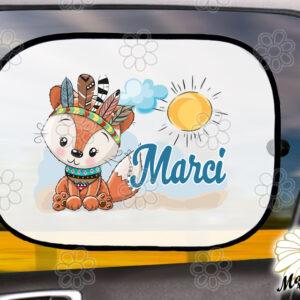 Egyedi autós napellenző névvel Róka indián