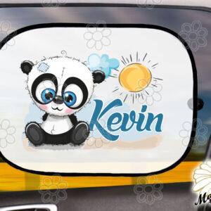Egyedi autós napellenző névvel panda