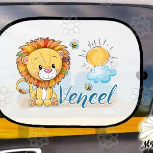 Egyedi autós napellenző névvel oroszlán