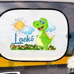 Egyedi autós napellenző névvel dínó bébi