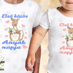 Anya lurkó szett Első közös anyák napja kenguru