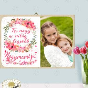 Akasztható tábla Anyák napi Világ Nagymamája A3