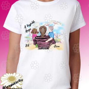 Anya fogja rajzos póló  1 fiú 1 kislány