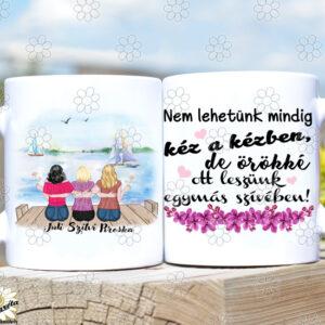 Rajzolt bögre Lány tesók/barátnők3
