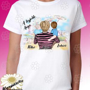 Anya fogja rajzos póló 2 fiú