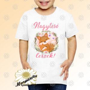 Gyerek póló Nagytesó leszek rókák